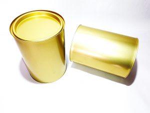 Контейнер за мед 5 кг метален, златист