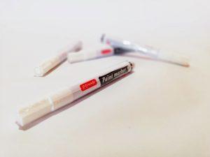 маркер за маркиране, бял